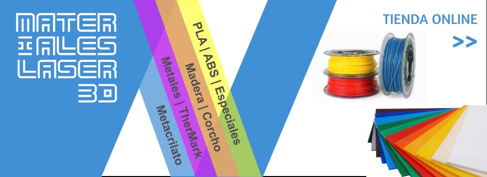 Tienda online materiales para láser y 3D