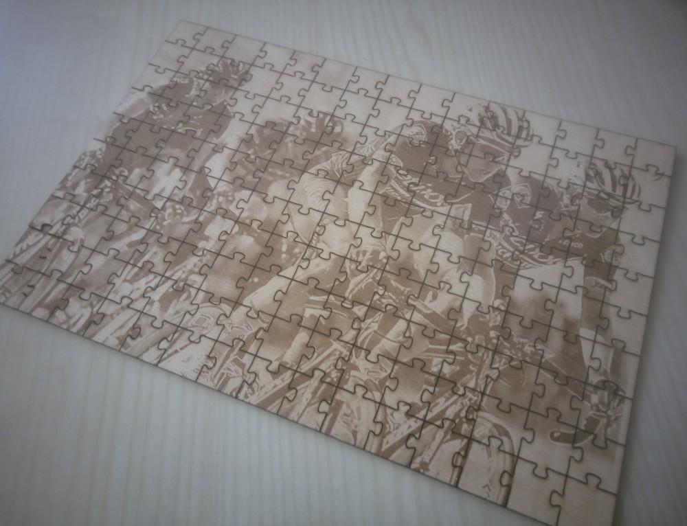 Puzzles grabados y cortados con láser