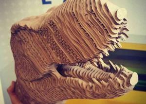 Modelo T-Rex de cartón