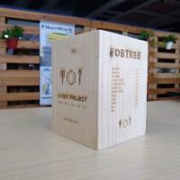 Carta de madera para restaurante