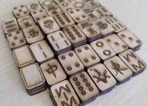 Juego Mahjong de madera